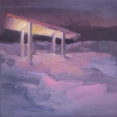 olie op canvas, 80x50 cm