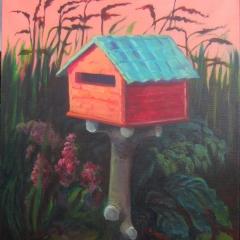 POSTBOX HOUSE     ACRYL OP DOEK, 80×120 CM