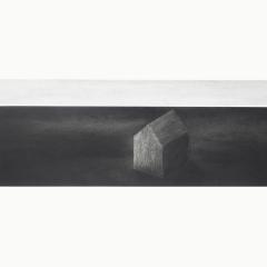 utopia I, houtskool en syberisch krijt op papier, 40x40 cm