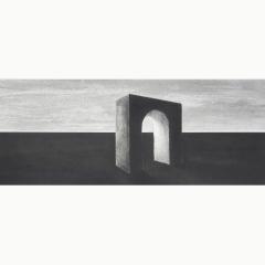 _IIutopia II, houtskool en syberisch krijt op papier, 40x40 cm