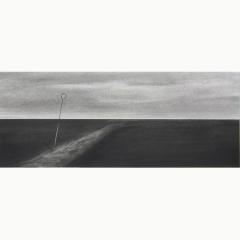 utopia III, houtskool en syberisch krijt op papier, 40x40 cm