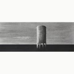 utopia IX, houtskool en syberisch krijt op papier, 40x40 cm