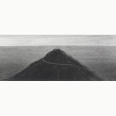 utopia V, houtskool en syberisch krijt op papier, 40x40 cm