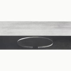 utopia X, houtskool en syberisch krijt op papier, 40x40 cm