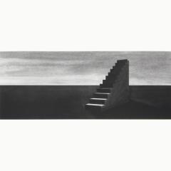 utopia XI, houtskool en syberisch krijt en inkt op papier, 40x40 cm