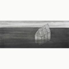 utopia XII, houtskool en syberisch krijt en inkt op papier, 40x40 cm