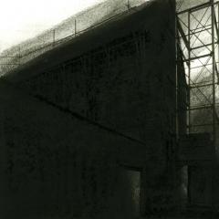 Cityscape_11/ digitale print en houtskool op papier / 21x 30 cm