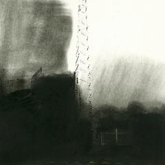 Cityscape_14/ digitale print en houtskool op papier / 21x 30 cm