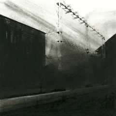 Cityscape_18/ digitale print en houtskool op papier / 21x 30 cm