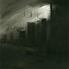 Cityscape_19/ digitale print en houtskool op papier / 21x 30 cm