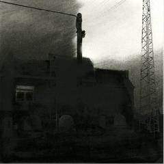 Cityscape_2/ digitale print en houtskool op papier / 21x 30 cm