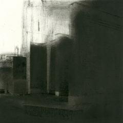 Cityscape_22/ digitale print en houtskool op papier / 21x 30 cm