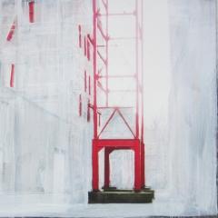 landmark 2 / digitale print en acryl op papier / 30x42 cm