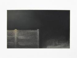 LANDSCHAP X     HOUTSKOOL EN SIBERISCH KRIJT OP PAPIER, 21×29 CM